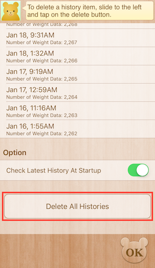 Delete All Histories